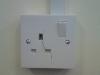 Damaged single socket outlet