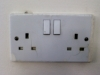 Cracked socket outlet
